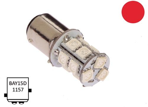 BaY15D 10-30VDC 2.2/20W rood