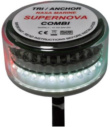 Nasa Supernova LED 3 kleur + anker