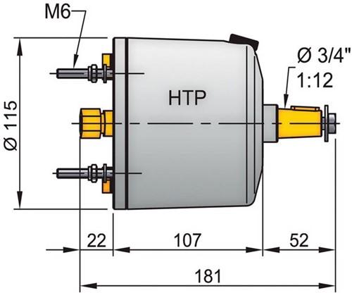Vetus stuurpomp HTP 42 10mm
