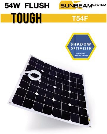 Sunbeam Tough 55W flexibel zonnepaneel Flush