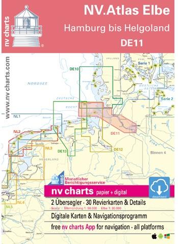 NV. Atlas DE11 Elbe - Helgoland tot Hamburg
