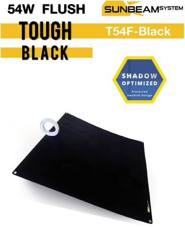 Sunbeam Tough 55W Flush Black Flexibel zonnepaneel zwart