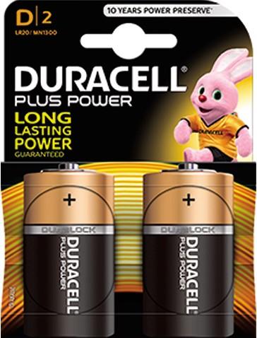 Duracell batterij groot 2st.  D