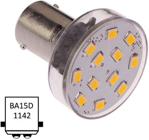 Ba15D dubbel 10-35VDC 2.1W/20W WW