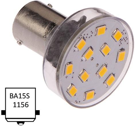 Ba15S enkel 10-35VDC 2.1W/20W WW