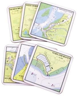 Onderzetters Wadden/Noordzee 6st