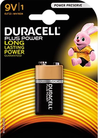 Duracell batterij 9 V.