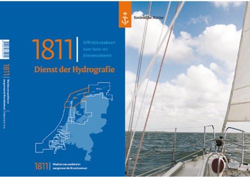 Hydrografische kaart Wadden West  1811 2021