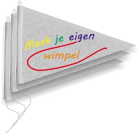 Maak je eigen vlag pakket - 3 puntvlaggen