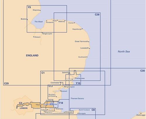 Imray kaart C 2 Noordzee