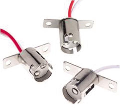 Ba15S socket + 15 cm leads