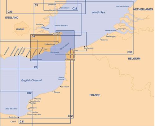 Imray kaart C 8 Noordzee