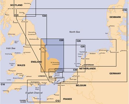 Imray kaart C 29 Noordzee