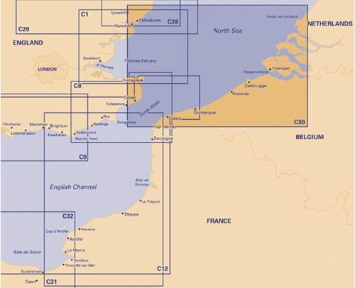 Imray kaart C 30 Noordzee