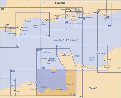 Imray kaart C 33b Kanaal