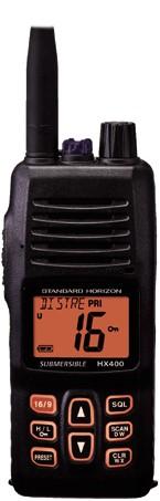 Standard Horizon HX-400E Handmarifoon - krachtige batt. 2300mAh Lithium-Ion