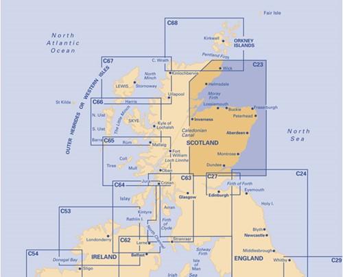 Imray Kaart C23 Schotland East