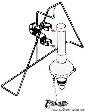 PGK RVS boeihouder driehoek