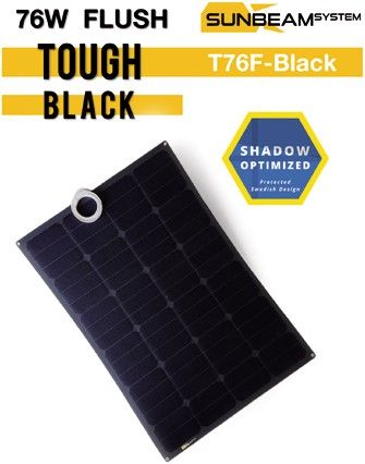 Sunbeam Tough 78W Flush Black flexibel zonnepaneel zwart