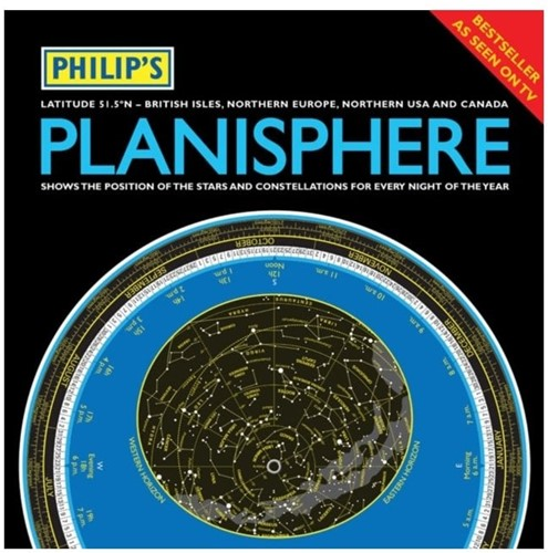 PLANISPHERE- 51.5 DEGREES NORT