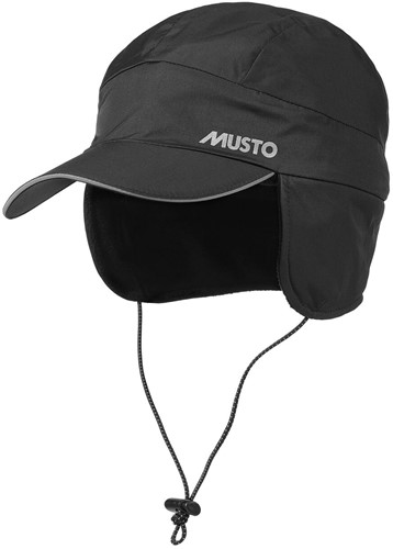 Musto 80016  Waterproof Fleece Lined Cap Black