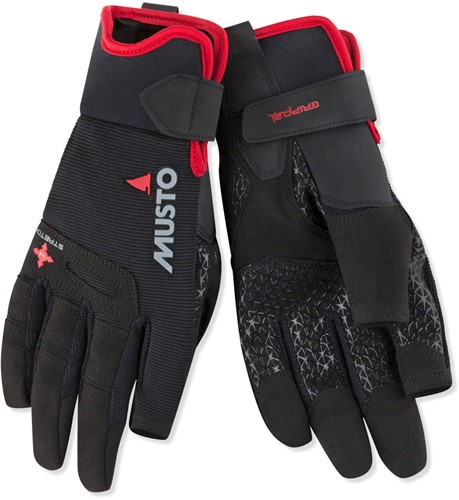 Musto zeilhandschoen 80103 Performance Long finger Glove Black / lange vingers