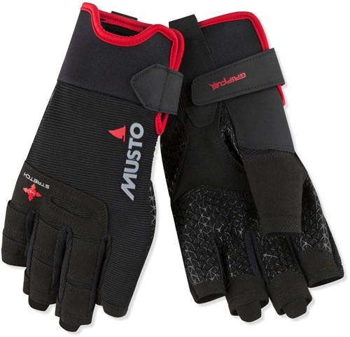 Musto zeilhandschoen 80104 Performance Short finger Glove Black /  korte vingers XS
