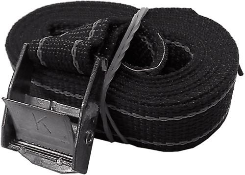 U Rope Spanband zwart 2,5m