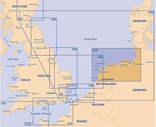 Imray kaart C 26 IJmuiden Kiel