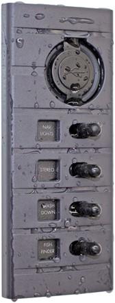 Schakelpaneel, 4 + 12 volt