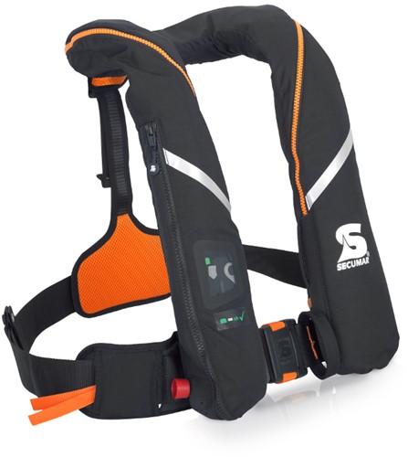 Secumar Survival Reddingsvest - 275N - zwart/oranje- noodverlichting
