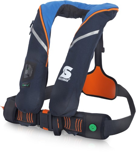 Secumar Survival Reddingsvest - 220N - blauw/oranje- sprayhood
