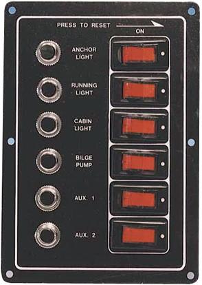 Schakelpaneel automaat 6 voudig PGK