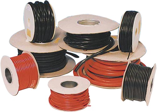 Montage kabel PVC rood of zwart