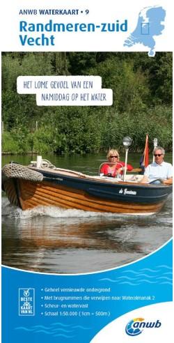 ANWB Waterkaart. 9. Randmeren -Zuid/Vecht