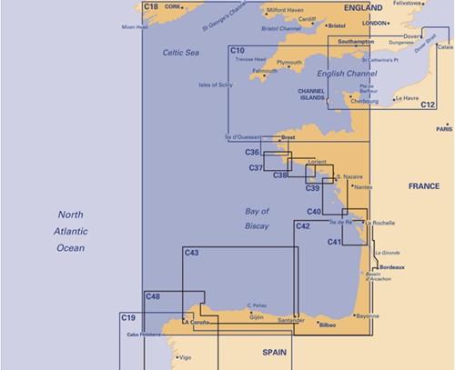 Imray kaart C 18 Biscay Passage
