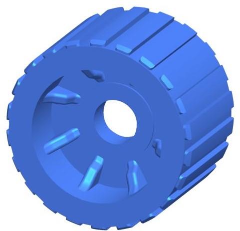 Talamex Geleiderol PU L70mm Ø110mm as 22.5mm