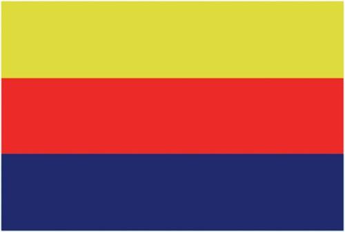 Vlag Noord Holland 20x30
