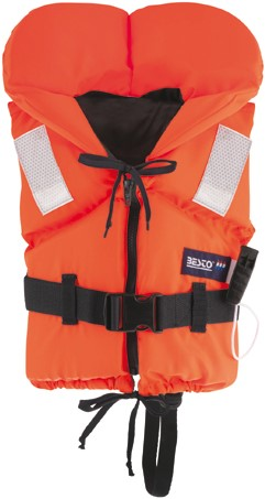 Besto Racingbelt 80N vastestof reddingsvest - oranje - 60/70 kg - kruisband