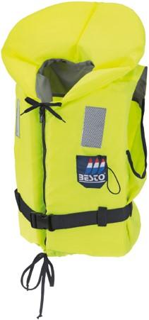 Besto Econ 50N reddingsvest - geel - 30/40 kg - kruisband