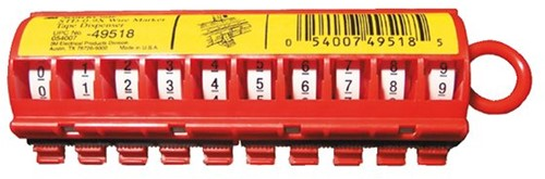 3M cijfer dispenser kabelcodering  (0-9)