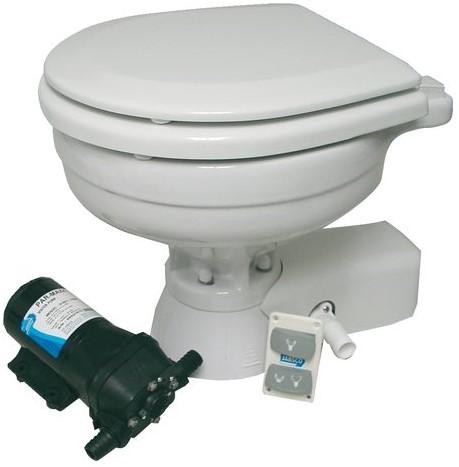 Jabsco Quiet Flush stil toilet grote pot 12V uitvoering met solenoïdeklep
