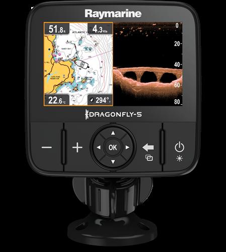 Raymarine Dragonfly 5 ProFishfinder/ kaartplotter, Chirp sonar, Downvision -  (excl. kaart)
