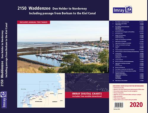 Imray kaartenset 2150 Waddenzee