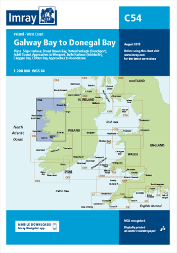 Imray kaart C 54 Galway Bay to Donegal Bay