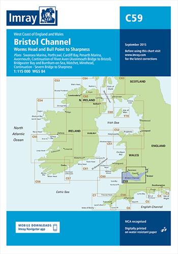 Imray kaart C 59 Bristol Channel