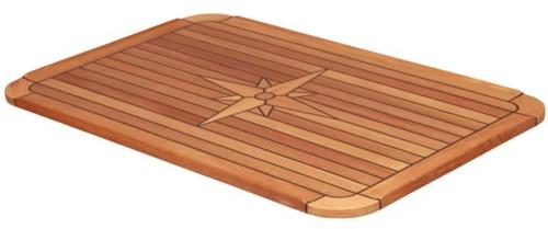 Talamex teak tafelblad met Nautic star  37 x 60 cm