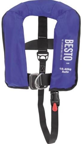 Besto Junior Reddingsvest - 150N - 15/40 kg - blauw