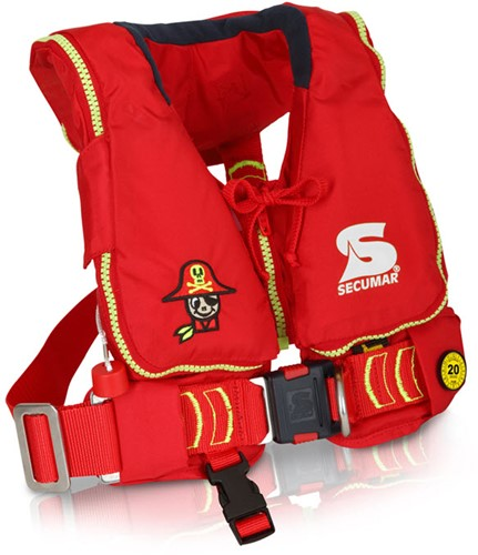 Secumar Mini Duo Protect Reddingsvest - 90N - 15/40 kg - rood