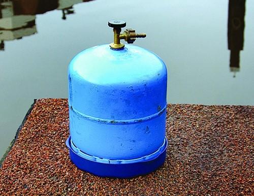 Blue Performance gas cylinder houder